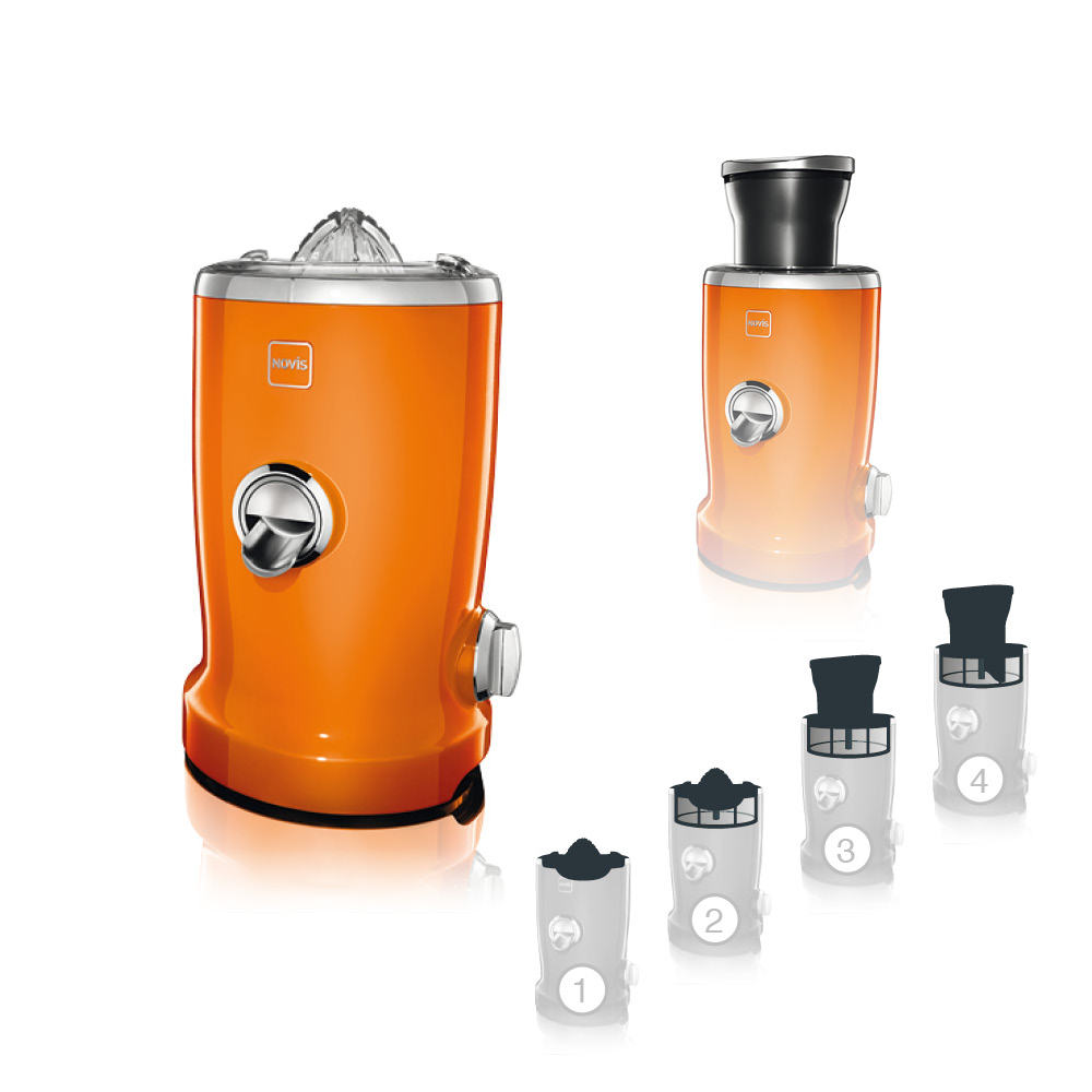 Novis vita Juicer S1 - Orange - Spinchy